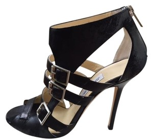 Jimmy Choo Stiletto Black Sandals