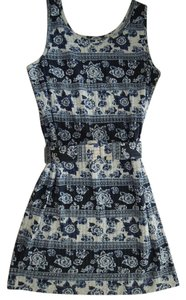 The Limited short dress Bright blue, navy blue and white on Tradesy