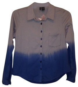 Fire Button Down Shirt Blue