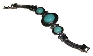 Antiqued Tibet Silver & Turquoise Fashion Bracelet Free Shipping