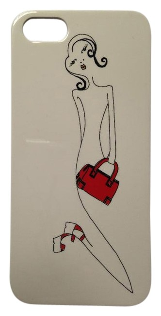 Item - White Red Black Iphone 5 Case By Stacey Bendet Shoe Bag Addict Shopalcoholic Tech Accessory