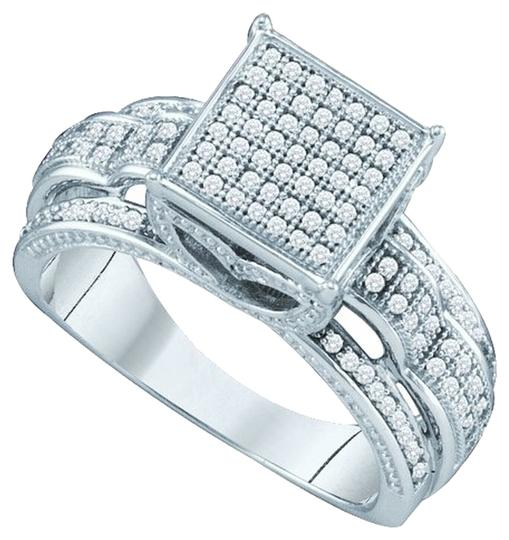 Other BrianG 10k WHITE GOLD 0.40 CTTW DIAMOND LADIES MICRO PAVE LUXURY FASHION RING