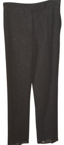 Valentino Lace Vintage Formal Straight Pants Black