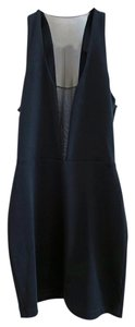 Elizabeth and James Sexy Lbd Bodycon Mesh V-neck Dress