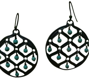 Silpada Silpada Sterling/Turquoise Circle Earrings