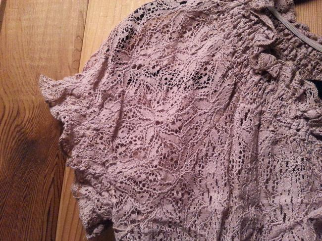 Macy's Top Pink lace