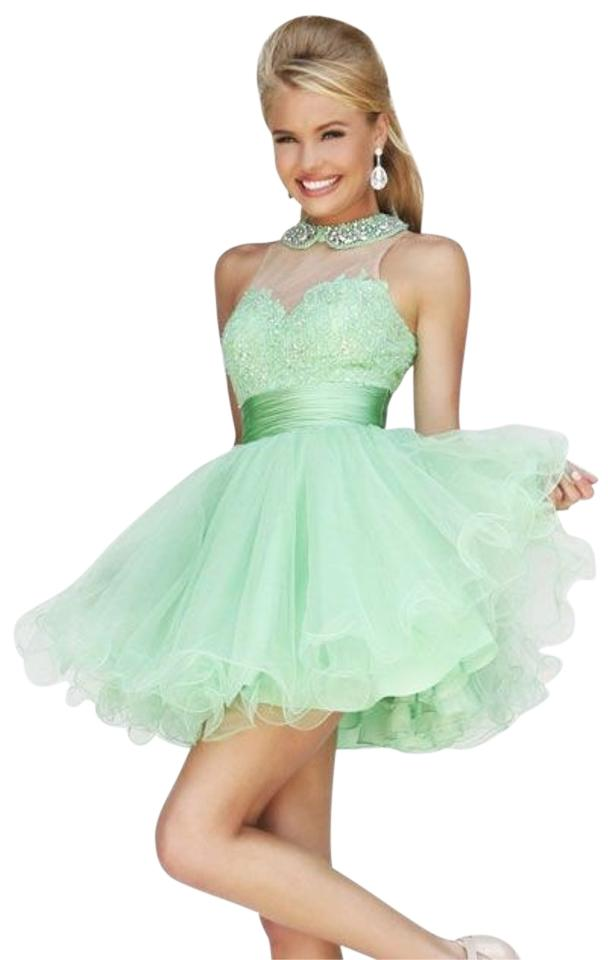 f65689eea63 Sherri Hill Light Green 21227 Above Knee Formal Dress Size 6 (S ...
