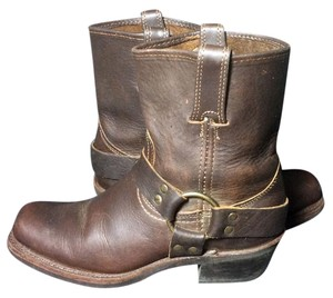 Frye 77455 Harness Motorcycle Leather Size 7.5 Brown Boots