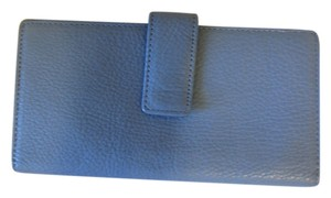 Slim Sexy Blue Leather Wallet