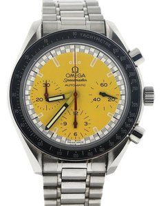Omega Omega Speedmaster Chronograph Michael Schumacher Yellow Dial Steel Watch 351012