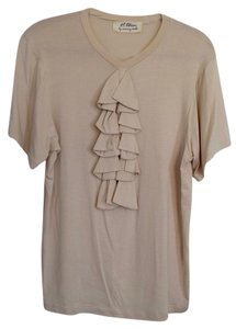 Torn by Ronny Kobo Short-sleeve T-shirt Beige Top Beige/Tan