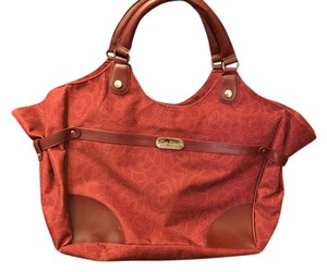 Jessica Simpson Large Fabric Tote in Red