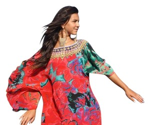 Red Maxi Dress by Victoria Luxury Silk Kaftan Caftan