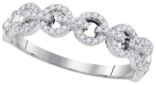 Other BrianG 10k WHITE GOLD 0.25 CTTW DIAMOND LADIES MICRO PAVE LUXURY FASHION RING / BAND