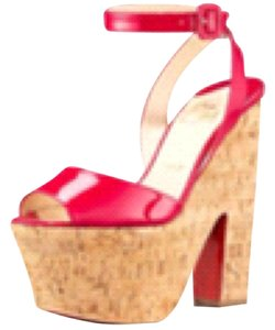 Christian Louboutin PINK RED RASPBERRY Wedges