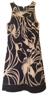 Ann Taylor short dress Black and White Silk Sleeveless on Tradesy