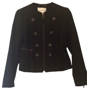 Banana Republic Jacket Zipper Black Blazer