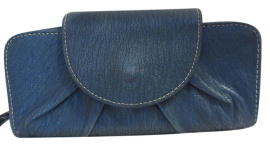 Other Tri Fold Snap Leather Secure Zipper Lots Of Places For Cards Id Place Nice Lots Of Area's To Keep You Organized Leather Satchel in BLUE
