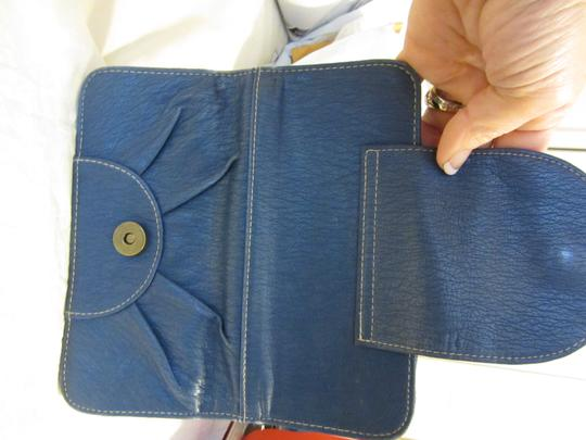 Other Tri Fold Snap Leather Secure Zipper Lots Of Places For Cards Id Place Nice Lots Of Area's To Keep You Organized Leather Satchel in BLUE Image 4