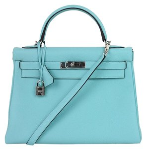 Hermès Tote in blue atoll