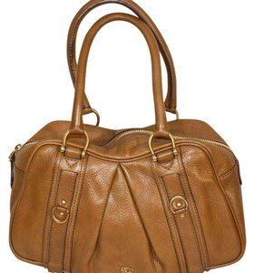 Burberry Classic Leather Satchel in Light Brown