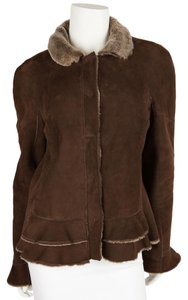 Philosophy di Alberta Ferretti Brown Leather Jacket