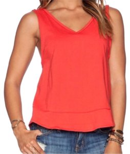 Free People Top Orange/red