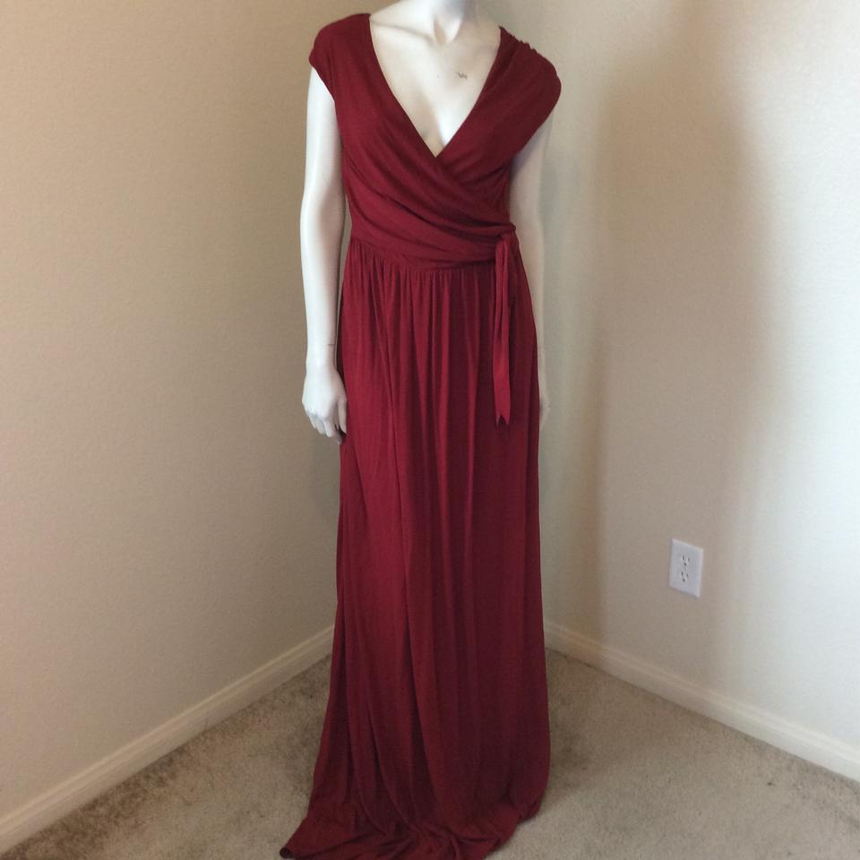 ISSA London Deep Red Jersey Gown Long Formal Dress Size 6 (S) - Tradesy