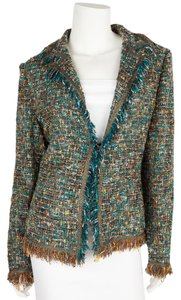 Cynthia Rose Blue & Tan Blazer