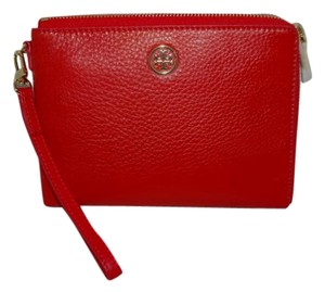 Tory Burch NWT RED TORY BURCH LANDON LARGE WRISTLET MASAAI PURSE WALLET