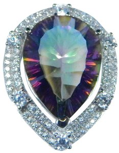 Other Stunning Pear Shape Mystic Quartz Sterling Silver Ring