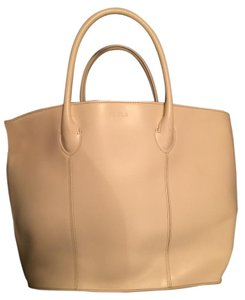 Furla Leather Tote in Ivory