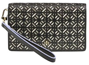 Tory Burch NWT TORY BURCH Fret-T Leather iPhone 6 & 6s Wristlet BLACK