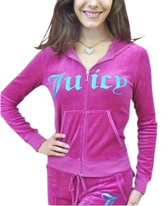 Juicy Couture Juicy Couture Tracksuit Pink Hoodie Snap Pocket Pants Set Crown