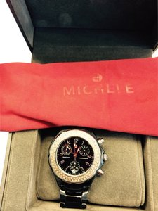 Michele Tahitian black ceramic and diamond Michele watch