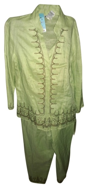 Preload https://item3.tradesy.com/images/allison-taylor-linen-lime-green-pant-suit-size-4-s-1648167-0-0.jpg?width=400&height=650