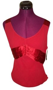 Due Per Due Silk Satin Top cranberry