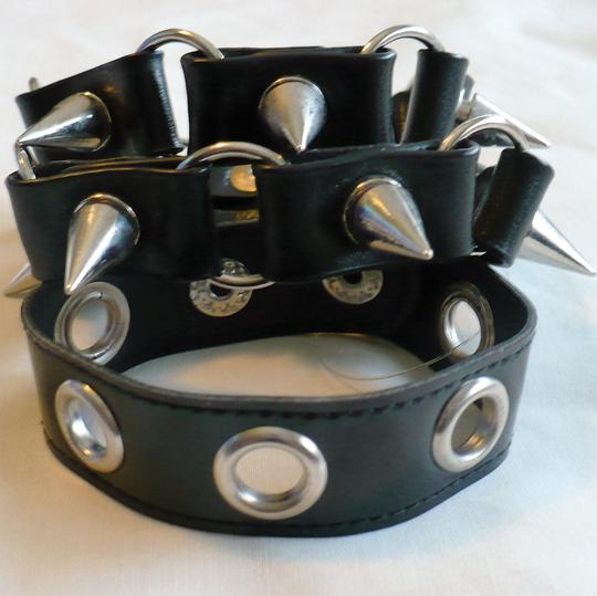 Other Lot of 3 Faux-Leather Cuffs: Studs, Spikes + Grommets