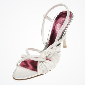 Filippa Scott Ruched Silk Designer Wedding Shoes Wedding Shoes