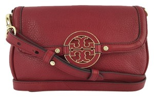 Tory Burch Leather Logo Cross Body Bag