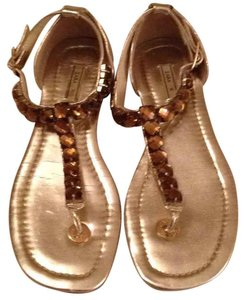 Zara Gold and Topaz Jewels Sandals