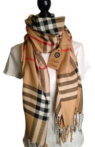 David Dart Oversized Burberry Styled Checked Scarf