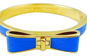 Kate Spade Kate Spade Perfectly Placed Hinged Leather Bow Bangle New