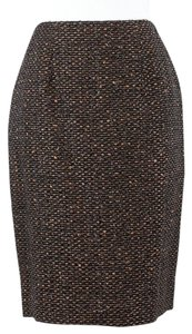 Dana Buchman Dbpu4414 2p Black Brown Gold Tweed Pencil B135 Skirt