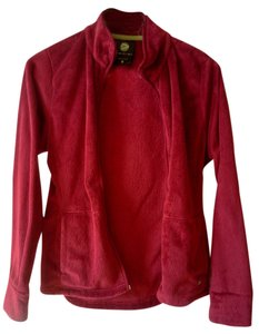 Danki Fuzzy Wuzzy Zip Plush Red Jacket