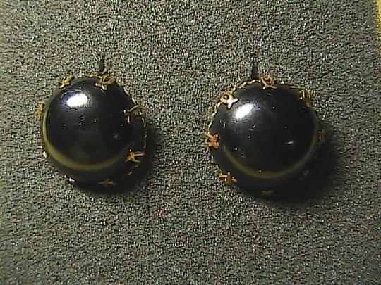 Vintage Gold Tone Back Clip On Earrings