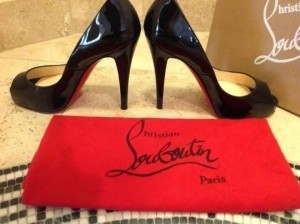 Christian Louboutin Patent black leather Platforms