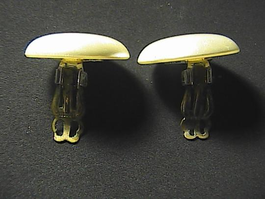 Vintage Silver Tone Faux Mother of Pearl Earrings