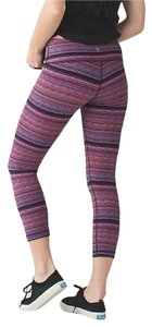 Lululemon NWT Lululemon Wunder Under Crop III STWV Size 4 Multi-colored Stripe