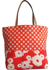 Kate Spade Tote in Orange &white